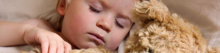 Child having a sound sleep due to good acoustics