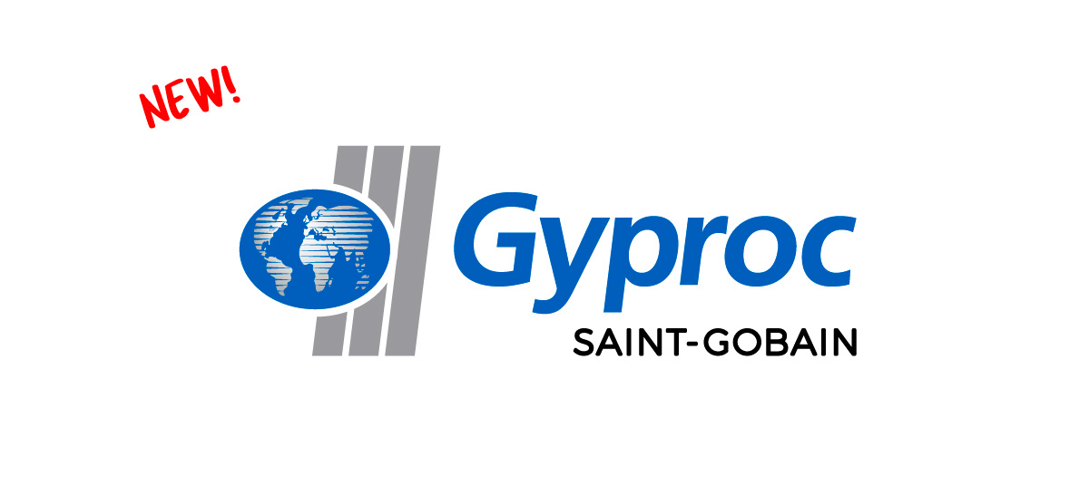 Gyproc's new logo