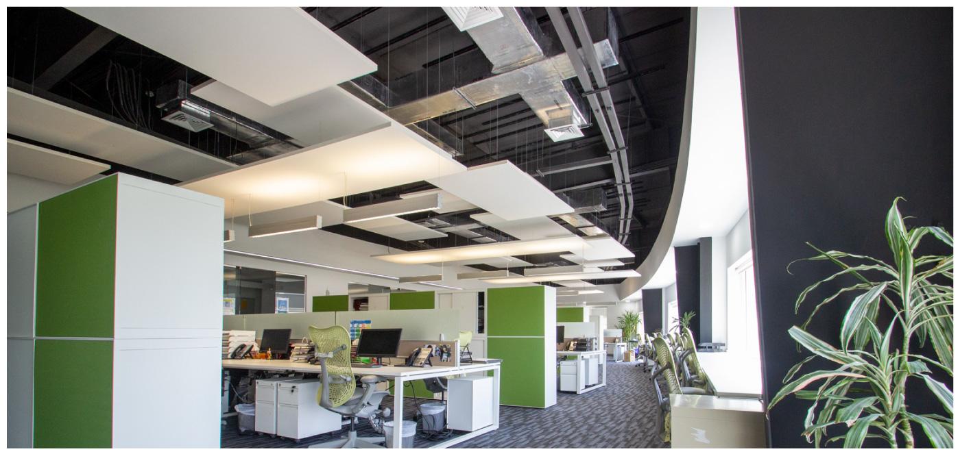 Ceilings at Saint-Gobain UAE office