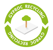 Gyproc recycling logo