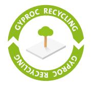 Gyproc recycling logo