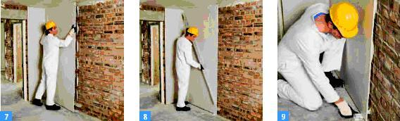 Lining solid walls the easy way