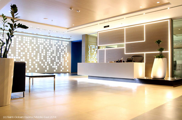 Oman Arab Bank HQ Interiors / Saint-Gobain Gyproc ME