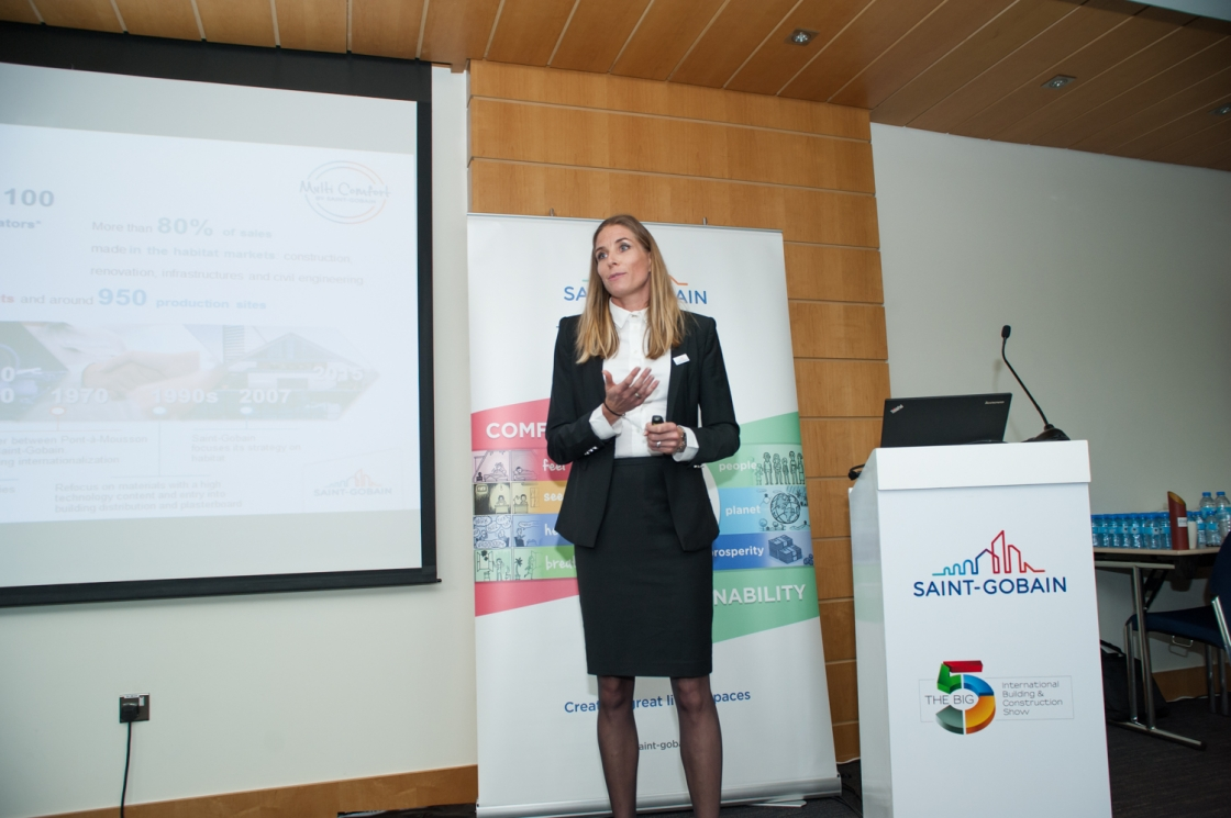 Marloes Meer at Saint-Gobain conferences at the Big 5 2016 event.