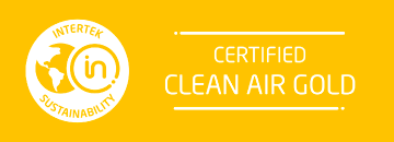 Certified Clean Air GOLD by Intertek