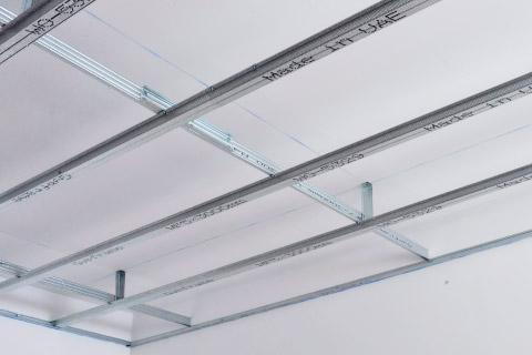 Ceiling Grid Hangers Lowering A Ceiling Box Attached To An
