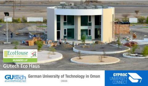 GUtech Eco Haus - Runnerup in Oman Eco House Competition 2015 - Supported by Gyproc Middle East