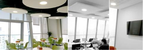 Gyproc ME's new office interiors using acoustics ceiling solutions from Gyproc(Gyptone and Rigitone) and Ecophon