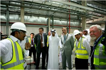 Saint-Gobain Gyproc plasterboard plant in the Middle East opening event
