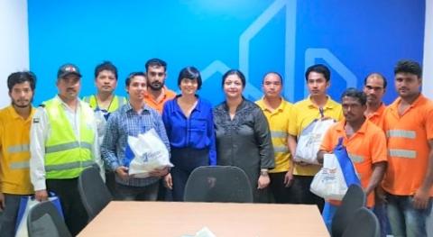 Iftar bucket initiative at Gyproc AUH