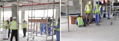 Gyproc site support at Madinat Jumeirah Extension